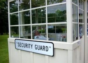 Auch ein Sicherheitsmann braucht seine Pause