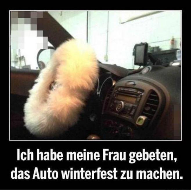 Wenn Frauen das Auto Winterfest machen